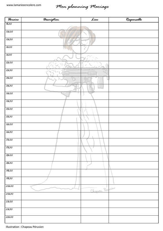 planning jour j-mariage-wedding planner-marie lp-montpellier