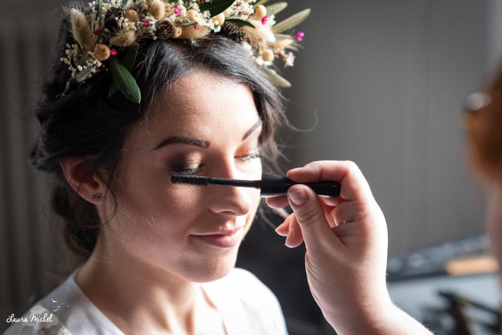 Shooting éco responsable - Marie LP - wedding planner - Montpellier - maquillage belle mariée